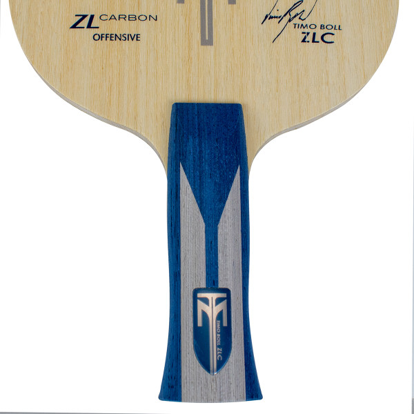 Timo Boll ZLC Blade: Close-up of Anatomic Handle Type