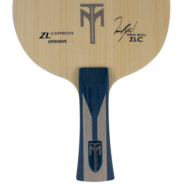 Timo Boll ZLC Blade: Close-up of Flared Handle Type