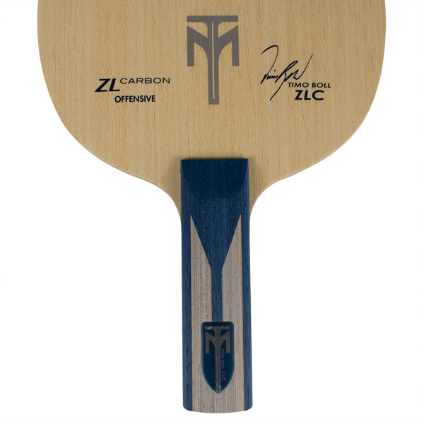 Timo Boll ZLC Blade: Close-up of Straight Handle Type