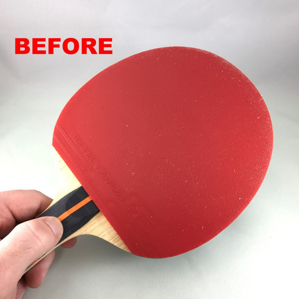 Racket Care Kit: Close-up of Dirty Rubber
