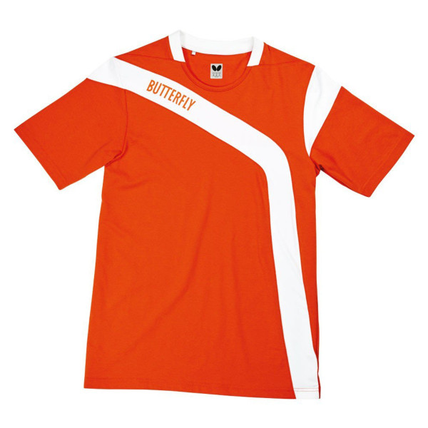 Yasu Cotton Shirts: Blue, Orange