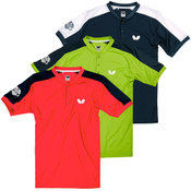 Butterfly Takeo Shirts: Coral, Lime Green, Navy