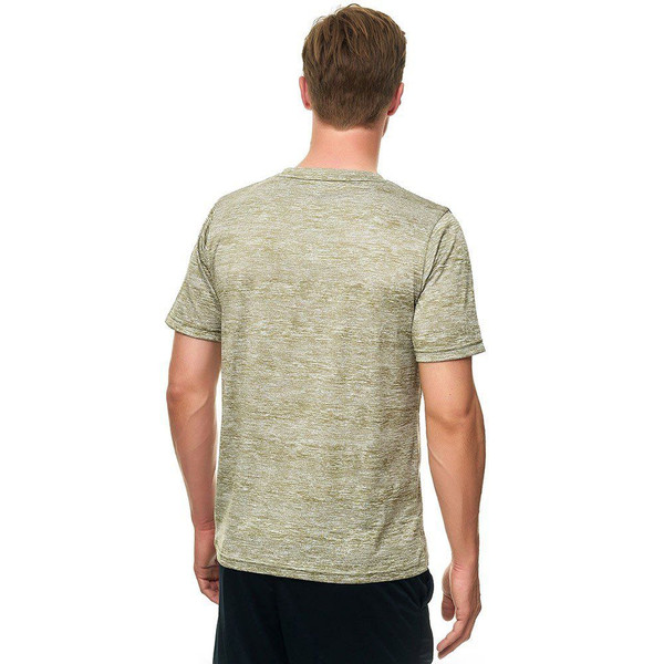 Toka T-Shirt: Olive, Back, Model