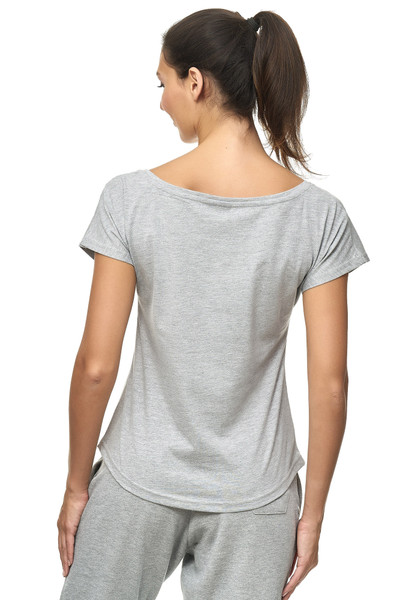 Kihon Lady Tee: Grey, Model, Back