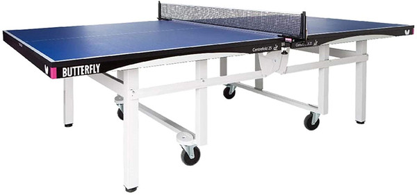 Centrefold 25 Table Tennis Table - Professional Ping Pong Table - 25mm Indoor Wheelchair Accessible Ping Pong Table - Strong Frame - Professional Ping Pong Net Included - 5 Year Warranty -