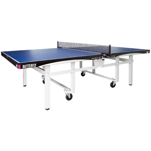 Butterfly Centrefold 25 Table Tennis Table Used, Professional Ping Pong Table, 25mm Indoor Wheelchair Accessible Ping Pong Table, Strong Frame, Professional Ping Pong Net Included
