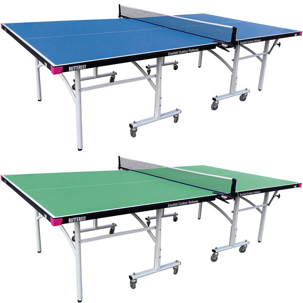 Butterfly Easifold Outdoor Ping Pong Table - Rolling Outdoor Table Tennis Table - 3 Year Warranty - 10 Minute Assembly - Great Bounce All Weather Ping Pong Table - Weatherproof Ping Pong Net - TEFOD