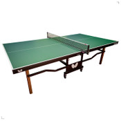 "Butterfly Nippon 22 Table Tennis Table, brings a classic look. Comes with 2"" thick solid wood legs with 5"" ball bearing casters, this ping pong table also features one of the earliest Butterfly logos"